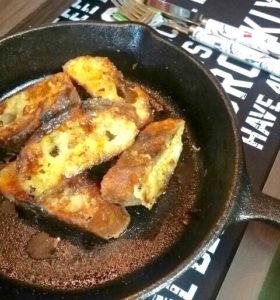 ニトスキで焼いたフレンチトーストレンジ