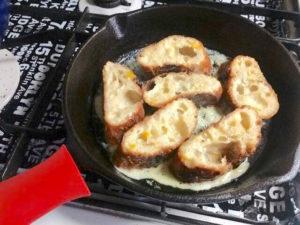 ニトスキで焼いたフレンチトースト