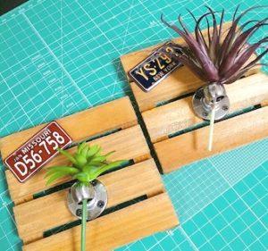 100均DIYで作ったフェイクグリーンの装飾雑貨