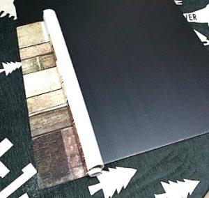 セリアの木目の板張り柄リメイクシート