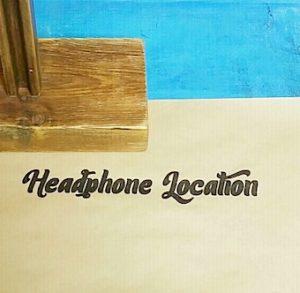 headphoneと書いた文字