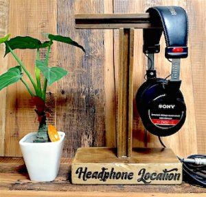 デコパージュした100均DIYで作ったヘッドホンスタンド