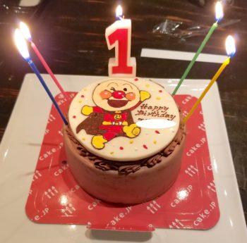 アンパンマンの誕生日ケーキ