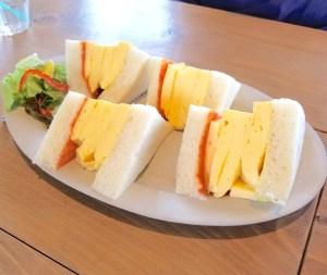 ブルースターカフェの卵サンド