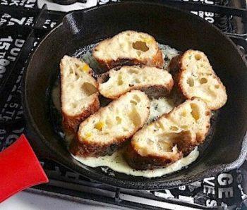 ニトスキでフレンチトーストを焼く