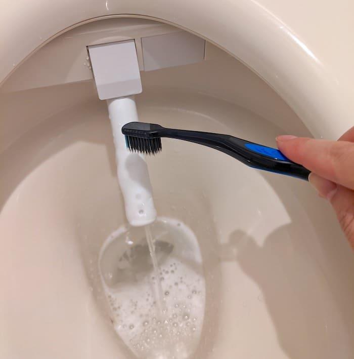 シャワーノズルにクエン酸をかける