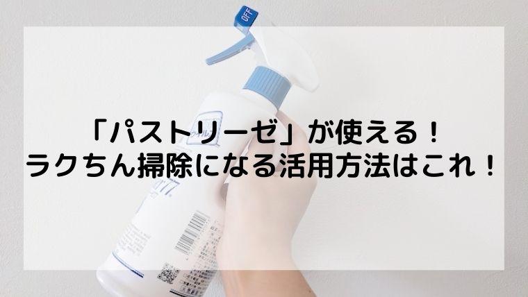 パストリーゼがラクちん掃除で大活躍する活用方法10選!